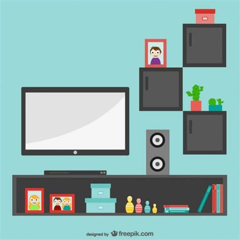 living room packages with free tv minimalist living room with tv vector free download
