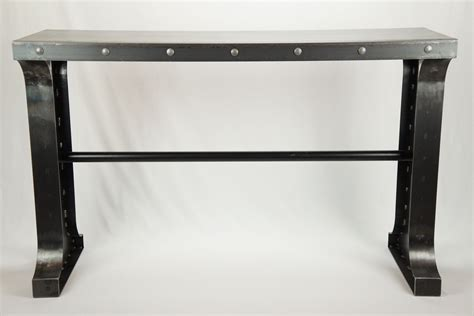 metal console table buy a custom made industrial metal console table made to