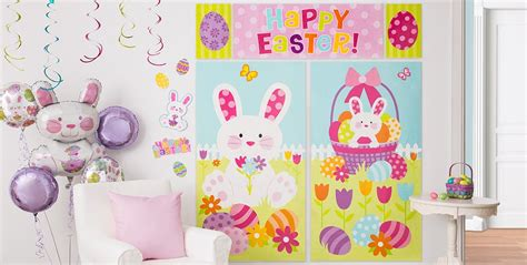 wall window easter decorations city