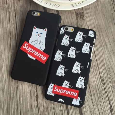Supreme Iphone 6 7 5 Xiaomi Redmi Note F1s Oppo S6 Vivo cas de doigt promotion achetez des cas de doigt