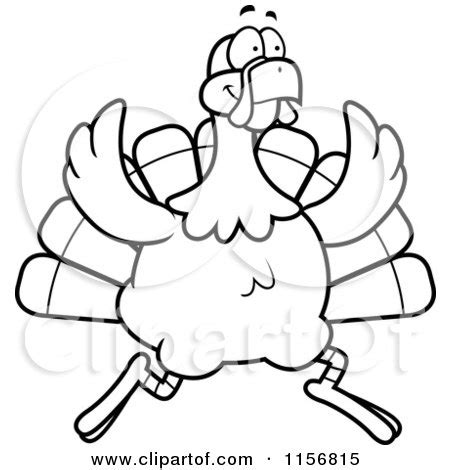 turkey trot coloring page royalty free rf running turkey clipart illustrations