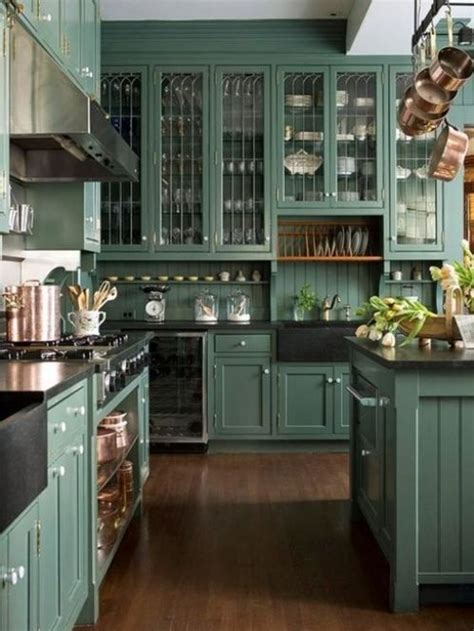 teal kitchen ideas teal cabinets kitchens pinterest