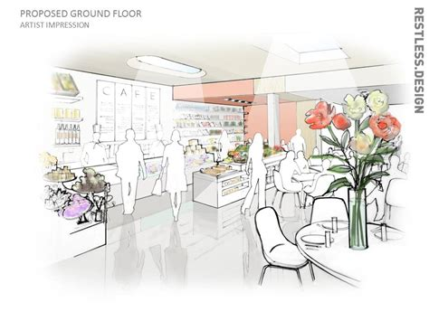 coffee shop interior design layout coco cafe in progress restless design