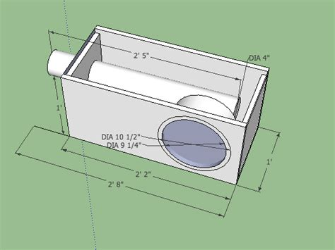 Car Port Design second opinion on 10 quot subwoofer box subwoofers
