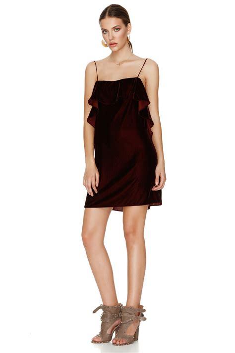 Velvet Mini Dress burgundy velvet mini dress pnk casual