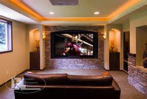 Built In Wall Units For Living Rooms basement home theater traditional home theater