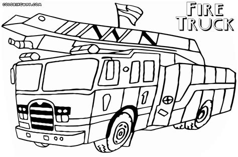 firetruck coloring page truck coloring pages coloring pages to and