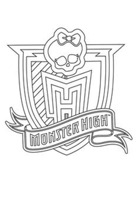 monster high symbol coloring pages how to draw logo monster high svg m 228 dchen pinterest