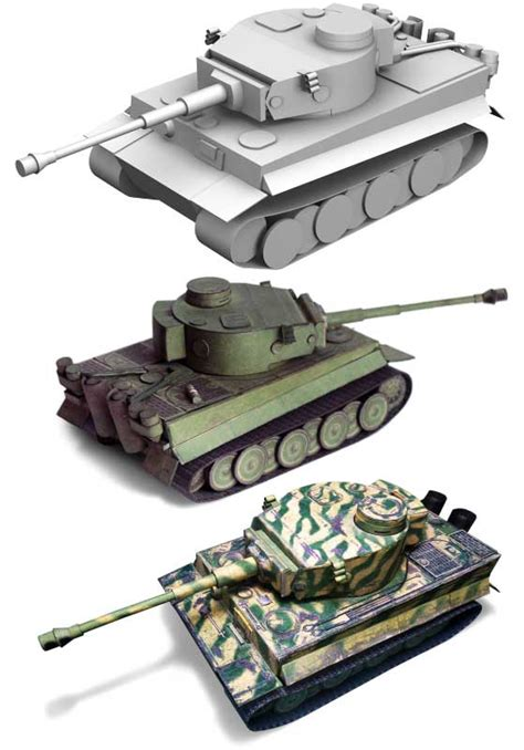 Papercraft Tanks - world of tanks pz kpfw vi tiger ausf h1 tank papercraft