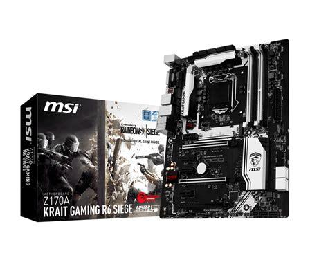 Mainboard Msi Z170a Krait Gaming R6 Siege Atx Lga 1151 1 msi z170a krait gaming r6 siege image ddr4motherboard