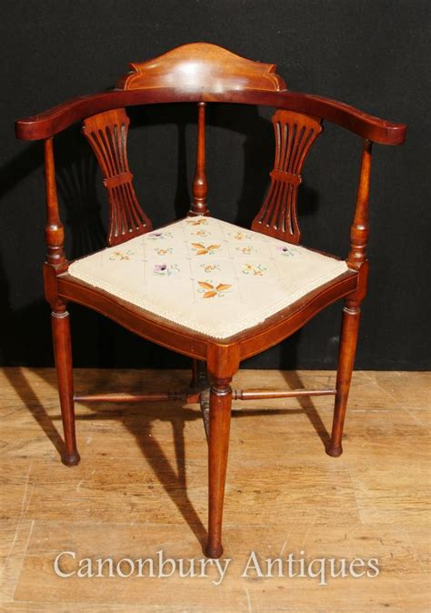 antique corner chair seat antique edwardian corner chair seat mahogany inlay 1910