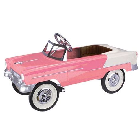 Pedal Car by 1955 Pink And White Chevy Pedal Car
