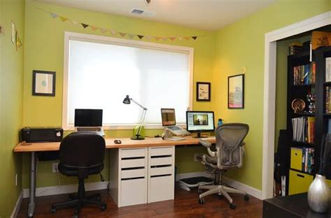 ikea home office hacks nice quot built in quot look made with ikea table tops cut to