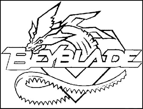 Beyblade Logo Colouring Pages Beyblade Coloring Pages