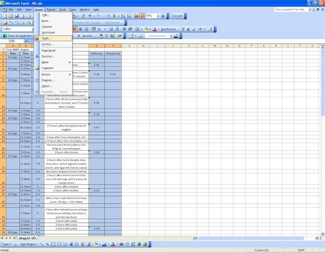 Diabetes Tracking Spreadsheet by Tutorial How To Log Chart Blood Glucose In Excel