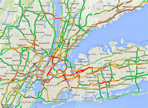 nyc traffic map traffic map of new york city at peak congestion 5 30 pm on a friday 838 215 611 mapporn