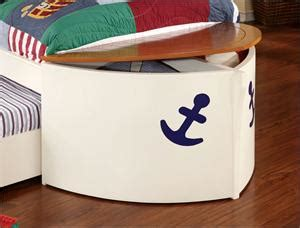 boat bed with trundle voyager boat captain bed with trundle and 2 drawers cm7768