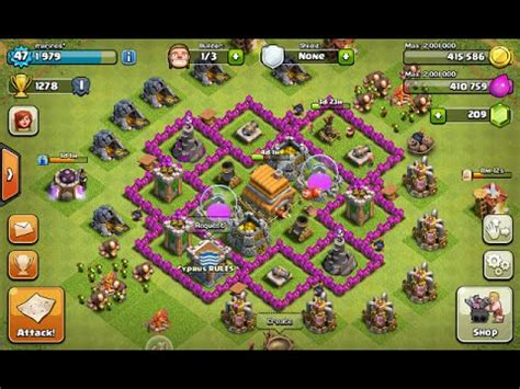 clash of clans layout strategy level 6 town hall level 6 defense best strategy for clash of clans