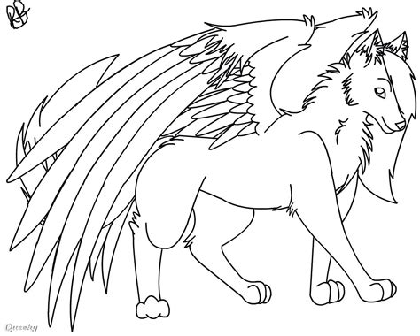 anime wolf drawings easy easy wolf drawing with wings
