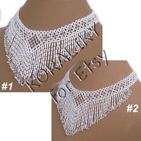 Modern Handmade Jewelry - white silver modern handmade jewelry beaded necklace