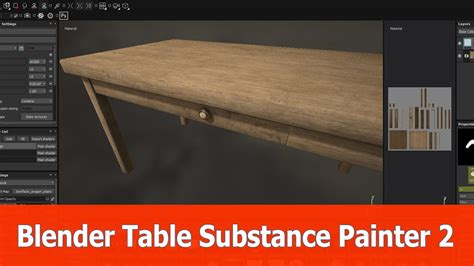 tutorial blender table blender table substance painter 2 texturing tutorial youtube