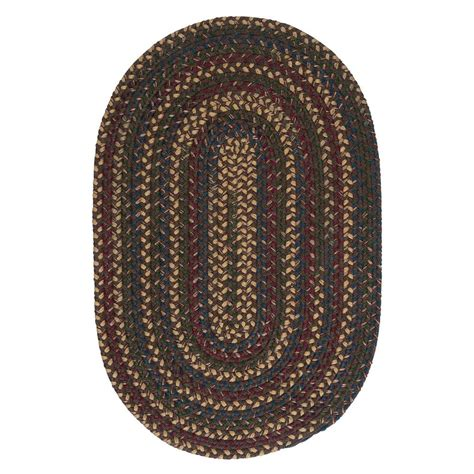 6 braided rugs safavieh braided brown multi 6 ft x 9 ft oval area rug