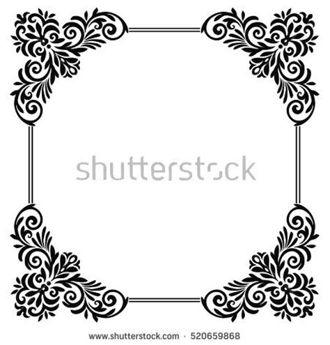 Corner Scroll Design Gothic And Border Patterns Pixshark Com Images