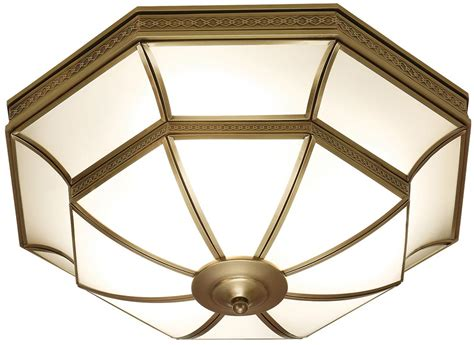 Balfour Frosted Glass Art Deco Style Flush 4 Light In Deco Style Ceiling Lights