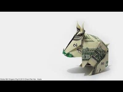 Dollar Origami Pig - origami