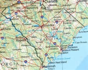 south carolina reference map