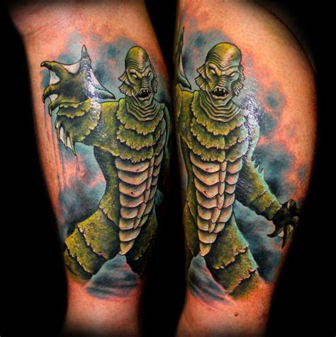 creature from the black lagoon tattoo 8 best sci fi space tattoos images on area