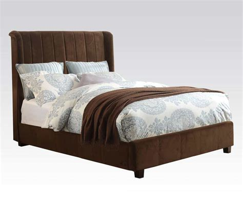 bed bay brown velvet bed bay area ac 770 traditional bedroom