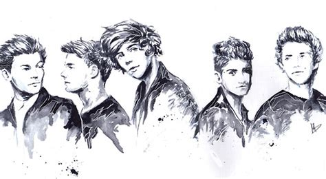 one direction painting watercolor painting one direction fan 32325763