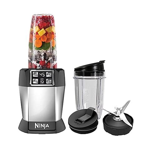 ninja blender bed bath and beyond nutri ninja 174 8 piece one touch intelligence extractor