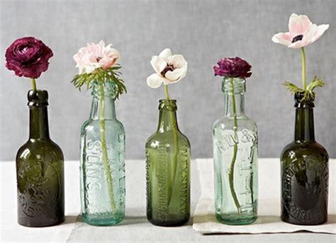 floreros y jarrones de vidrio floreros y jarrones con botellas recicladas