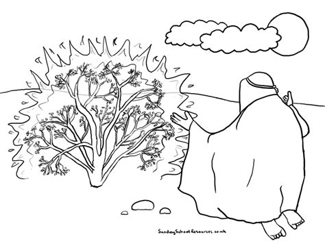 sunday school moses bible coloring pages