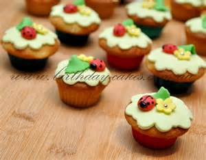 decorated cupcakes birthday cupcakes with flowers and ladybugs