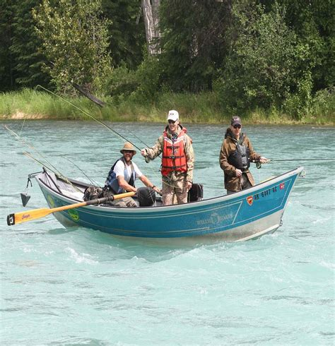 drift boat kenai river alaska rivers company guided fishing drift boat alaska