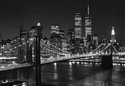 new york city skyline black and white wallpaper fototapety na zeď