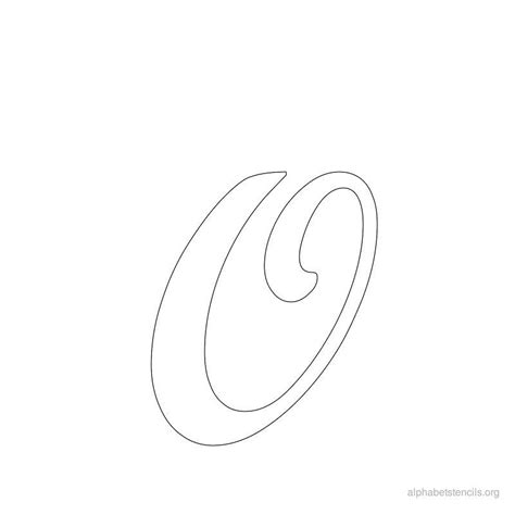 free printable letter stencils for crafts print free alphabet stencils cursive o letter stenciles