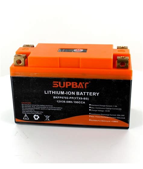 alimentatore batteria moto batterie moto li ion 12v 39wh type ytx9 bs