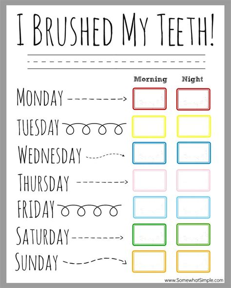 Printable Tooth Brushing Reward Chart | 21 best teeth brushing incentive charts images on