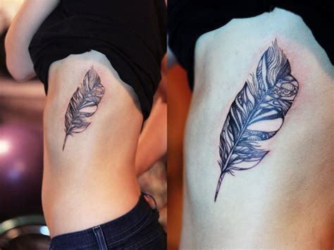 feather tattoo rib cage 29 feather rib cage tattoos