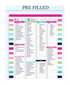 Holiday Packing List Template Travel Packing List 10 Free Word Pdf Psd Documents