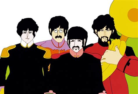 The beatles yellow submarine characters were based off of their look in strawberry fields