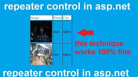 design menu control in asp net repeater control in asp net codango