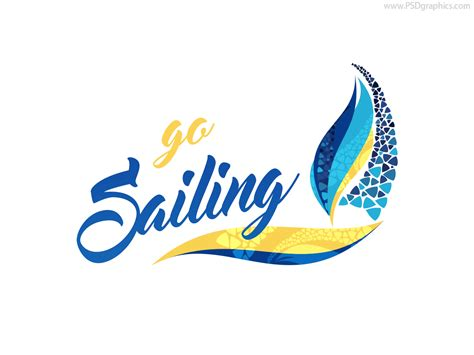 sailing logo psd and ai templates psdgraphics