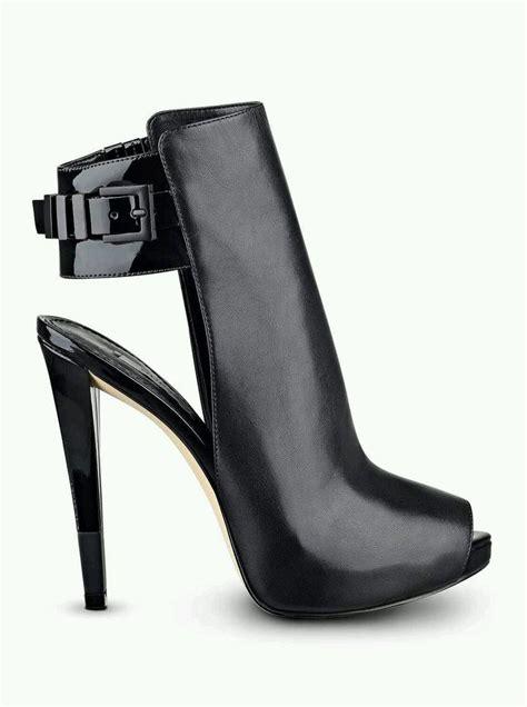 guess black high heels 139 guess catea black leather platforms high heels peep