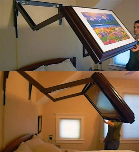 Bed Frame With Tv Mount Fancy Extended Flip Out Tv Wall Mount