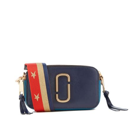 Marc Snapshop Bag Doubel Material Taiga marc s snapshot cross bag midnight blue multi free uk delivery 163 50
